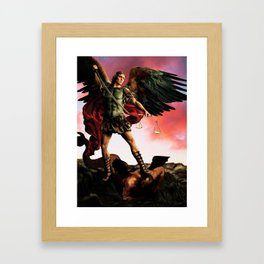 The Triumph of Our Better Judgement Framed Art Print