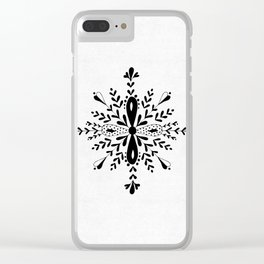 Winter in black and white - Snowflake Clear iPhone Case