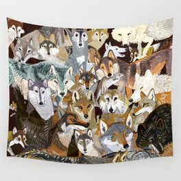 Wolves o´clock (Time to Wolf) Wall Tapestry