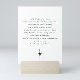 """The Greatest Salesman"" Scrolls by Og Mandino Mini Art Print"
