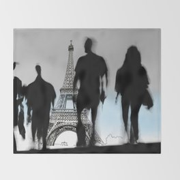 Les Parisiennes Throw Blanket