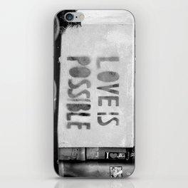 Love is possible - Berlin stencil iPhone Skin
