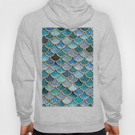 Multicolor Aqua Mermaid Scales - Beautiful Abstract Glitter Pattern Hoody