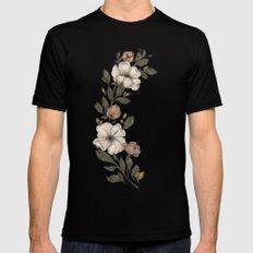 Floral Laurel Mens Fitted Tee 2X-LARGE Black