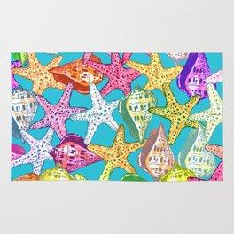 Seashells and sea stars Rug