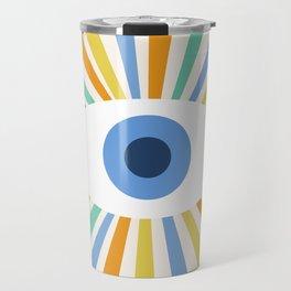 All Seeing Evil Eye Travel Mug