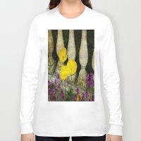 concrete Long Sleeve T-shirts featuring Concrete Flowers by BeachStudio