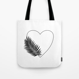 Heart Palm Tote Bag