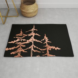 THE THREE SISTERS Trees Rose Gold Rug