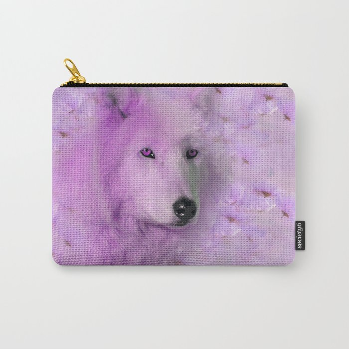 PURPLE WOLF FLOWER SPARKLE Carry-All Pouch