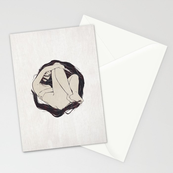 My Simple Figures: The Circle Stationery Cards