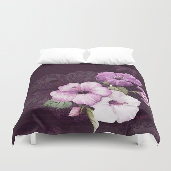 The shadow of flowers Duvet Cover