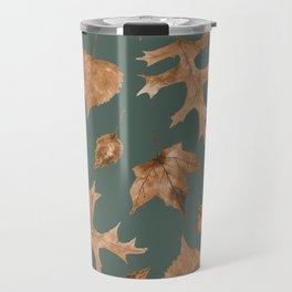 Autumn Elements Pattern (Copper&Sage) Travel Mug