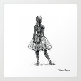 After Degas: Little Dancer Aged Fourteen Art Print