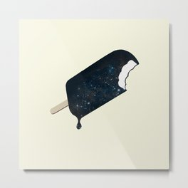 Space Melter Metal Print