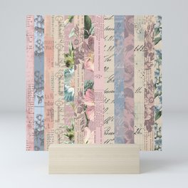 Vintage Shabby Florals Mini Art Print