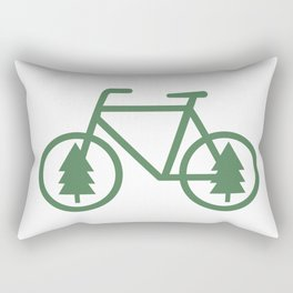 Pacific Northwest Cycling - Bike, Bicycle, Portland, PDX, Seattle, Washington, Oregon, Portlandia Rectangular Pillow