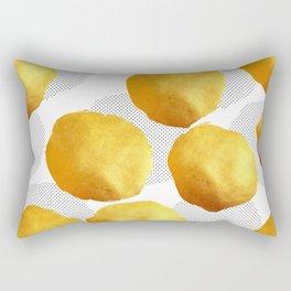 Golden Spots and Polka Dots Rectangular Pillow