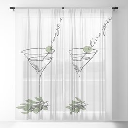 Olive Sheer Curtain