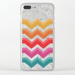 Retro - Valleys Concrete #472 Clear iPhone Case