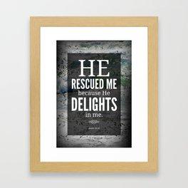 He Rescued Me Framed Art Print