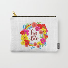 LGBT, Gay and Lesbian Quotes, Designs of Rainbows Flags and Hearts (40) Carry-All Pouch