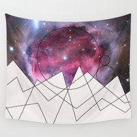 outer space Wall Tapestries featuring Outer Space by FlurinaJT