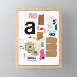 Paper Trail I  Framed Mini Art Print