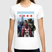 sports T-shirts featuring Chicago Sports by Carrillo Art Studio