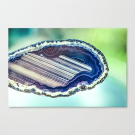 Blue purple geode Canvas Print