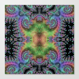 Psychedelic Fractal Kaleidoscope Canvas Print