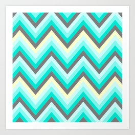 Simple Chevron Art Print