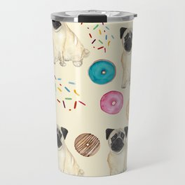 Pugs and donuts sweet sprinkles Travel Mug
