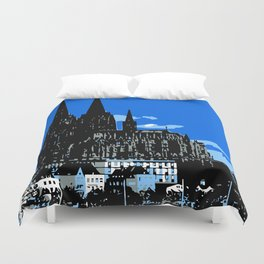 Koeln Cologne retro vintage style travel advertising Duvet Cover