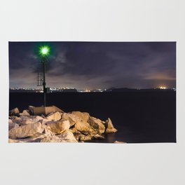 The Green LIGHTHOUSE- Island of Ischia - Landscape Rug