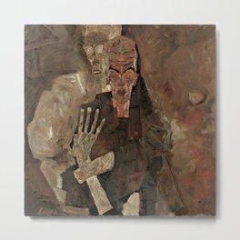 """Egon Schiele """"Self-Seer II (Death and Man)"""" Metal Print"""