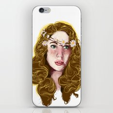 Flowers In Your Hair.... iPhone & iPod Skin