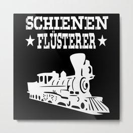 Railroad Rails Whisperer Railroader Gifts Metal Print