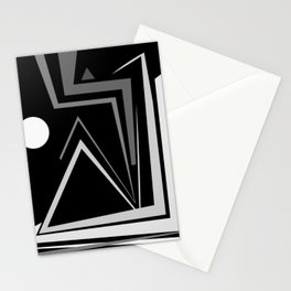 Abstraction 027 - Minimal Geometric Triangle Stationery Cards