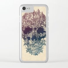 Skull Floral Clear iPhone Case