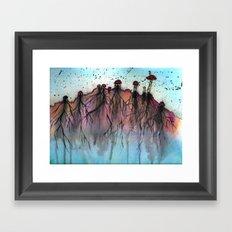 Mushroom Villiage  Framed Art Print