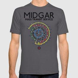 Final Fantasy VII - Midgar Mass Transit System Map T-shirt