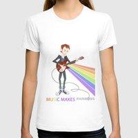 radiohead T-shirts featuring Radiohead Thom in Rainbows by AnaMF