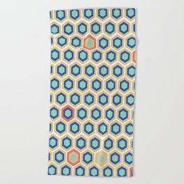 Digital Honeycomb Beach Towel