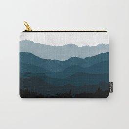 Mists No. 6 - Ombre Blue Ridge Mountains Art Print  Carry-All Pouch