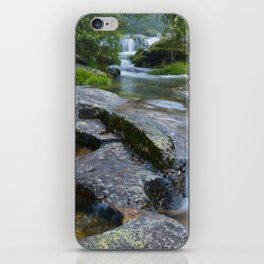 Waterfalls in wild forest iPhone Skin