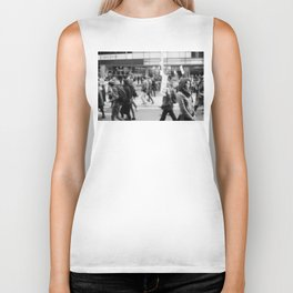 Young Woman At Refugee March 2013 Biker Tank