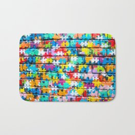 Rainbow Puzzle Bath Mat