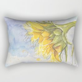 Helianthus annuus: Sunflower Abstraction Rectangular Pillow