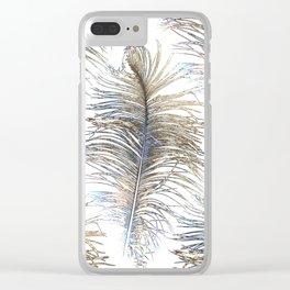 Ostrich Gold Clear iPhone Case